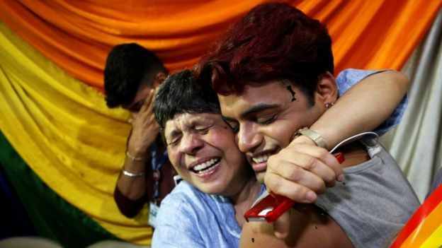 1 - India decriminalising gay sex (image source - reuters)
