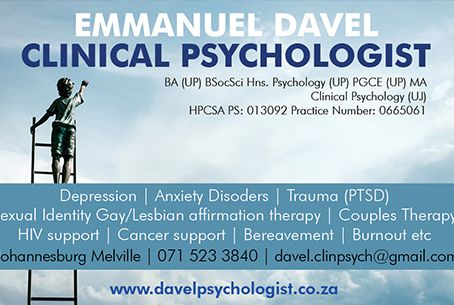emmanuel davel clinical psychologist
